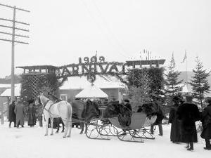 Midwinter Carnival, Entrance to Pontiac Rink, Upper Saranac Lake, N.Y.