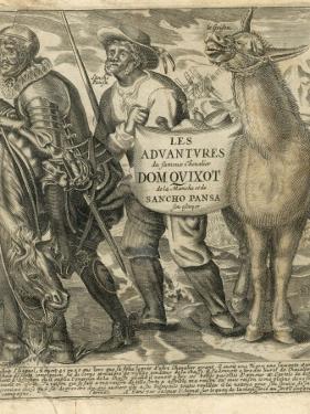 Don Quixote and Sancho Panza. Title-Frontispiece. by Miguel Cervantes