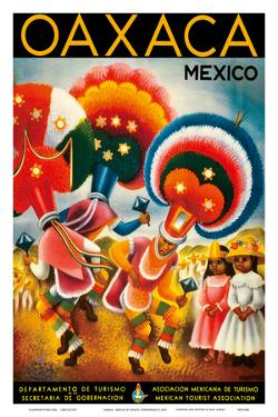 Oaxaca, Mexico - Costumed Native Dancers by Miguel Covarrubias