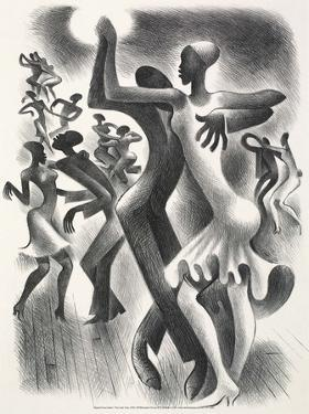 The Lindy Hop, 1936 by Miguel Covarrubias