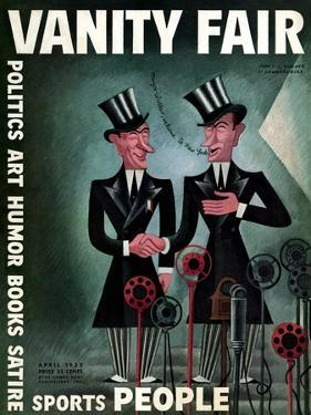 Vanity Fair Cover - April 1932 by Miguel Covarrubias