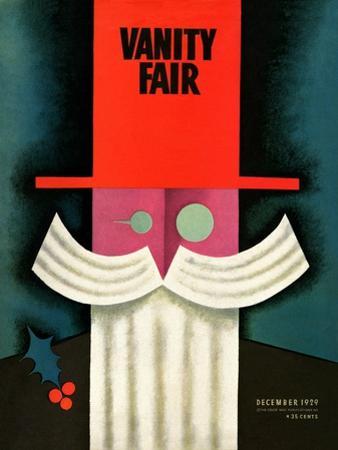 Vanity Fair Cover - December 1929 by Miguel Covarrubias