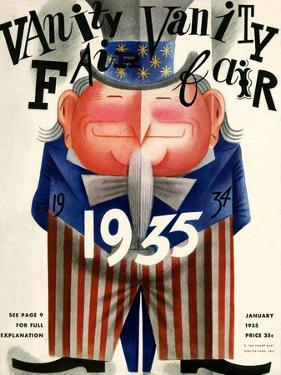 Vanity Fair Cover - January 1935 by Miguel Covarrubias