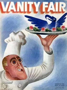 Vanity Fair Cover - November 1934 by Miguel Covarrubias