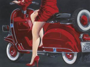 Woman in Red by Miguel Garigliano