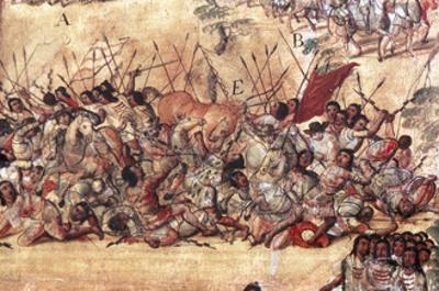 Battle in the City of Cholula Between the Spaniards and the Indians in October 1519