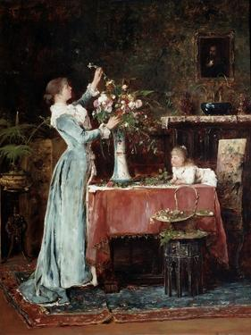 Composing a Bouquet, 1880s by Mihaly Munkacsy
