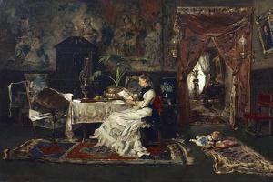 Parisian Interior, 1877 by Mihaly Munkacsy