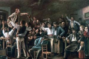 Strike, 1895 by Mihaly Munkacsy