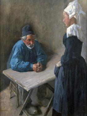 The Engagement of the Maidservant, C1864-1900 by Mihaly Munkacsy