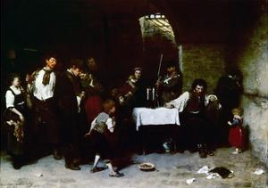 The Last Day of a Condemned Man in Hungary, 1870 by Mihaly Munkacsy