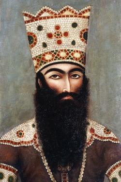 Qajar Royal Portrait; Probably Fath 'Ali Shah (1772-1834), C.1810 by Mihr 'Ali