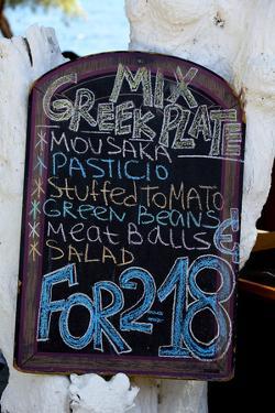 Signboard, Santorini by mikdam