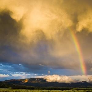 A Thunderstorm Leaves a Rainbow over the Gros Ventre Mountains, Grand Teton National Park, Wyoming by Mike Cavaroc