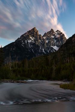 A Twilight Sky Shining Above String Lake Flowing Toward The Teton Mts. Grand Teton NP, Wyoming by Mike Cavaroc