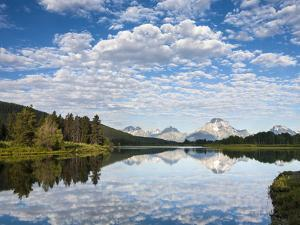 Cloud Reflection on Oxbow Bend by Mike Cavaroc