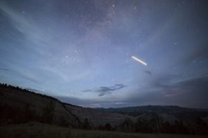 International Space Station, Above Lavender Hills Of Gros Ventre Mts, Bridger-Teton NF, Wyoming by Mike Cavaroc
