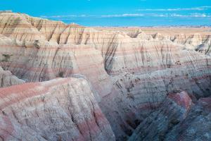 Large Badlands Hills Dropping Below The Big Badlands Overlook. Badlands National Park, South Dakota by Mike Cavaroc