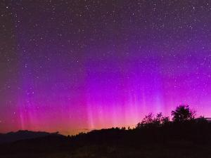 Northern Lights over Shadow Mountain by Mike Cavaroc