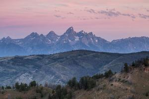 Sunrise Lighting Clouds Over The Teton And Gros Ventre Mountains, Bridger-Teton NF, Wyoming by Mike Cavaroc