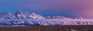 Sunrise Lights the Northern End of Jackson Hole in Grand Teton National Park, Wyoming by Mike Cavaroc
