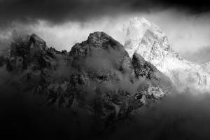Teton Peaks are Blanketed in a Fresh Layer of Snow in Grand Teton National Park, Wyoming by Mike Cavaroc