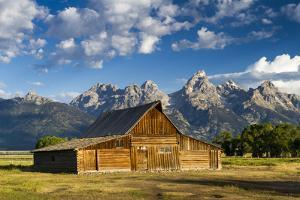 The Moulton Barn Rests Below the Teton Mountains in Grand Teton National Park, Wyoming by Mike Cavaroc