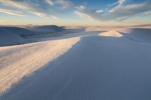 Wind-Eroded Waves Forming On Sand Dunes, White Sands National Monument, New Mexico by Mike Cavaroc