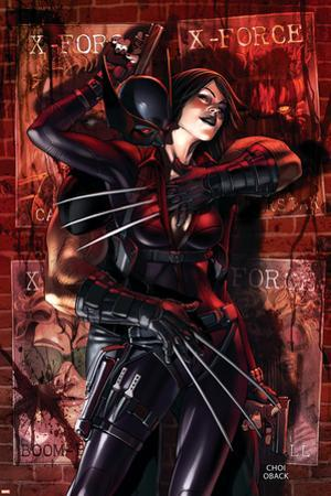 X-Force No.9 Cover: Wolverine and Domino by Mike Choi