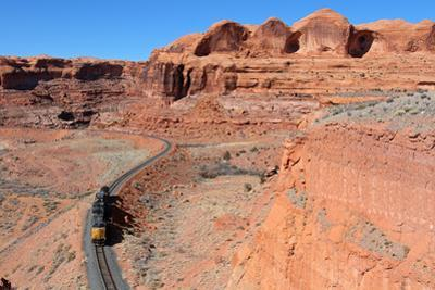 Tiny Train in Canyon Country by Mike Danneman