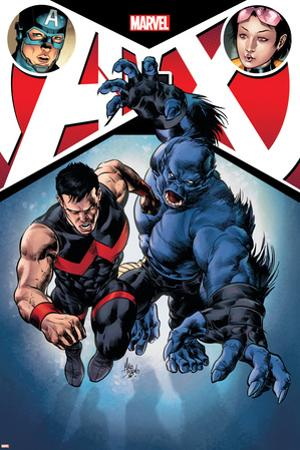 A+X #12 Cover: Captain America, Jubilee, Wonder Man, Beast