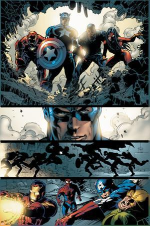 Amazing Spider-Man No.523 Group: Captain America, Luke Cage, Iron Man and Spider Woman by Mike Deodato