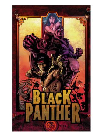 Black Panther No.11 Cover: Black Panther, Cage, Luke and Shang-Chi by Mike Deodato