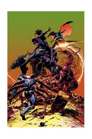 Carnage No.3 Cover, Featuring Spider-Man, Demogoblin, Shriek, Venom, Carnage and Doppleganger