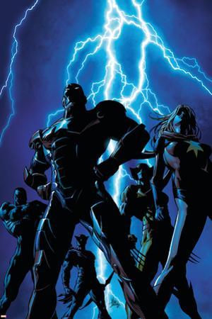 Dark Avengers No.1 Cover: Iron Patriot and Ms. Marvel