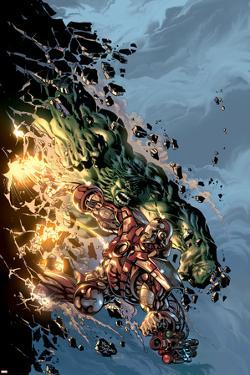 Incredible Hulk No.71 Cover: Hulk and Iron Man by Mike Deodato