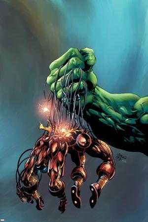 Incredible Hulk No.73 Cover: Hulk and Iron Man by Mike Deodato