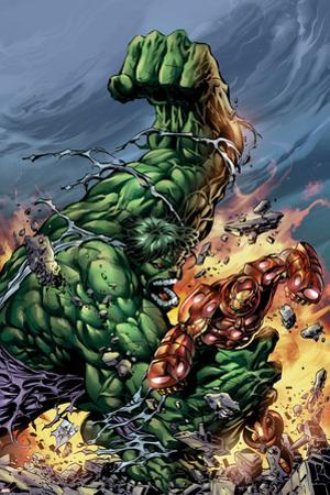 Incredible Hulk No.74 Cover: Hulk and Iron Man