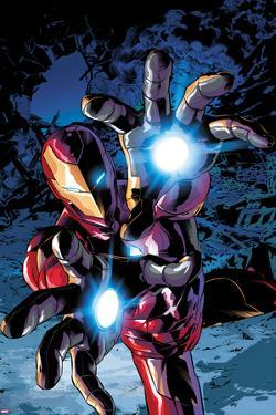 Invincible Iron Man #13 Cover Art Featuring Iron Man by Mike Deodato