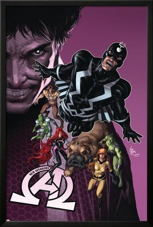 New Avengers #8 Cover: Medusa, Black Bolt, Lockjaw, Gorgon, Triton, Crystal, Karnak, Maximus by Mike Deodato