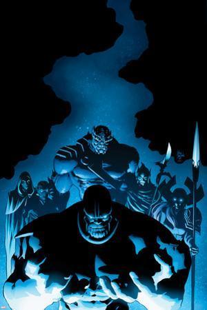 New Avengers #9 Cover: Thanos, Proxima Midnight, Corvus Glaive, Black Dwarf, Supergiant, Ebony Maw