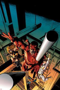 New Avengers No.16 Cover: Daredevil, Iron Fist, Ms. Marvel, Spider-Man by Mike Deodato