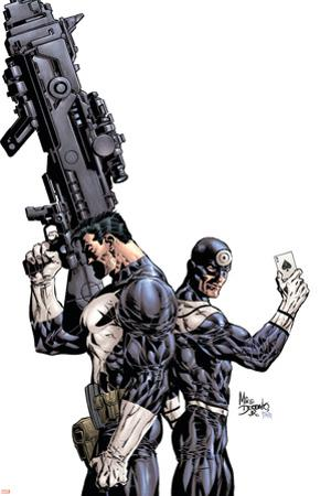 Punisher Vs. Bullseye No.1 Cover: Punisher and Bullseye by Mike Deodato