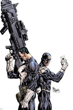 Punisher Vs. Bullseye No.1 Cover: Punisher and Bullseye by Mike Deodato