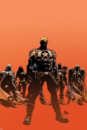 Secret Avengers No.12.1 Cover: Steve Rogers, Moon Knight, Black Widow, War Machine, and Valkyrie