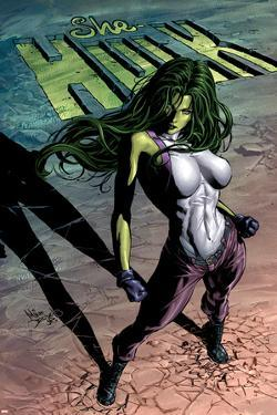 She-Hulk No.29 Cover: She-Hulk by Mike Deodato