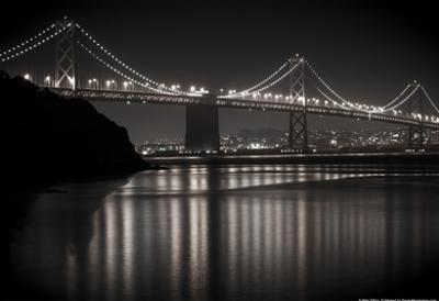 Bay Bridge by Night Photo Poster by Mike Dillon