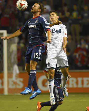 Jul 30, 2014 - MLS: Vancouver Whitecaps vs Chicago Fire - Mattew Fondy, Johnny Leveron