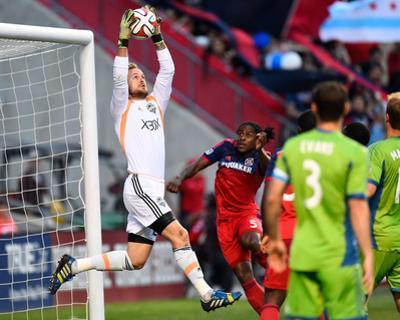 Jun 7, 2014 - MLS: Seattle Sounders vs Chicago Fire - Stefan Frei by Mike Dinovo