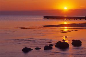 Lake Manitoba Sunrise by Mike Grandmaison
